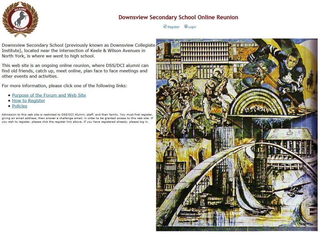 High School web site.