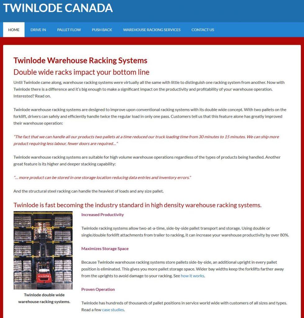 Web site built using WordPress