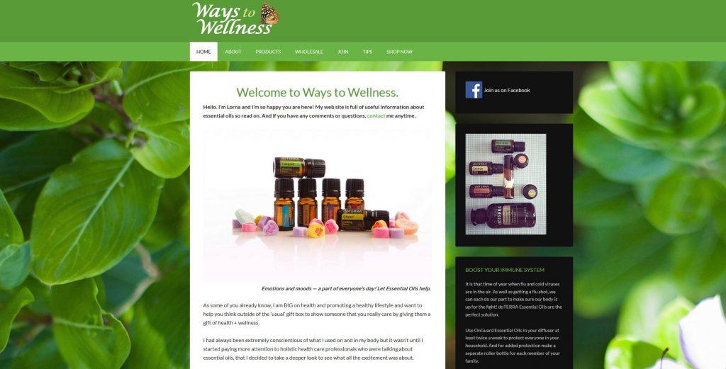 Ways to Wellness Web site